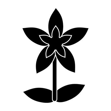 flower tropical exotic pictogram vector illustration eps 10