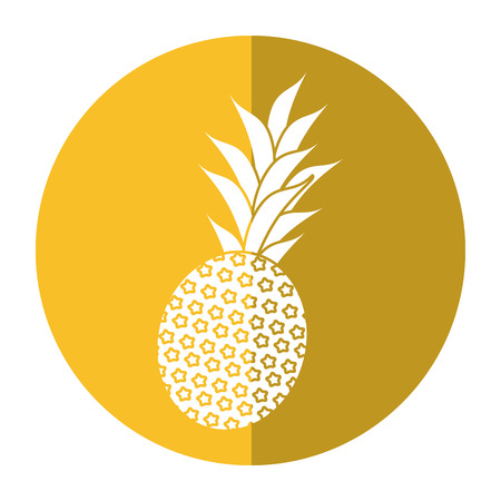 sweet pineapple tropical fruit shadow vector illustration eps 10 Illustration