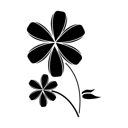 naturism: plumeria flower decoration pictogram vector illustration eps 10
