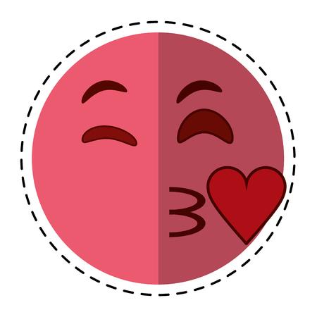sexy tongue: cartoon kiss love emoticon funny vector illustration eps 10 Illustration