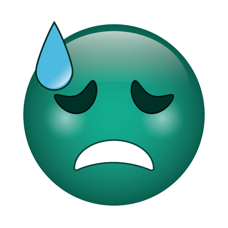 crying face emoticon funny icon vector illustration eps 10 Illustration