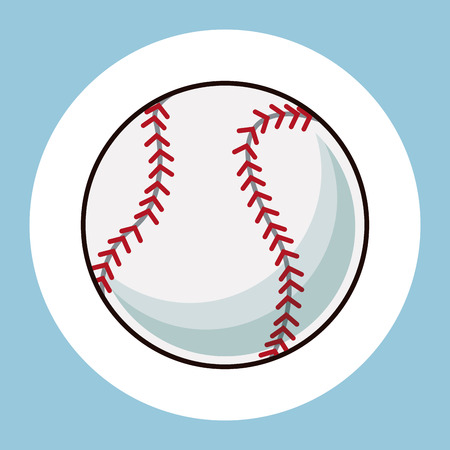 baseball ball equipment icon vector illustration eps 10