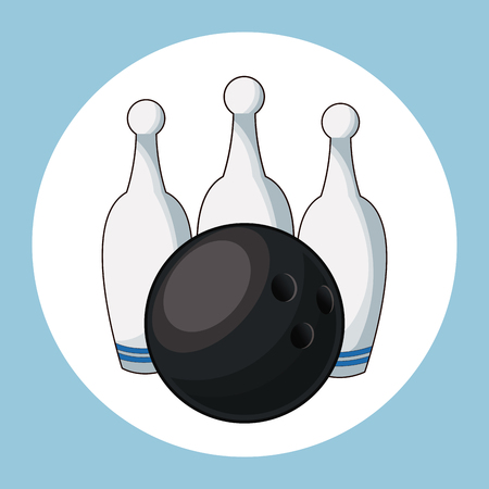 ball and pins bowling vector illustration eps 10