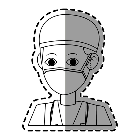 surgeon medical doctor icon image vector illustration design