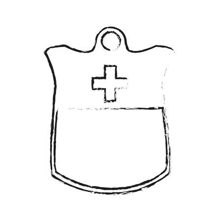 iv drip: iv bag icon image vector illustration design