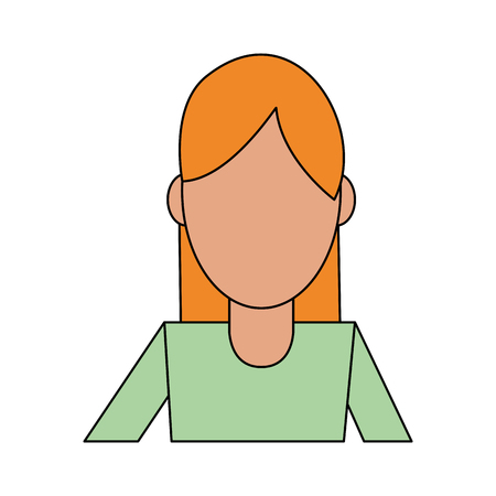 portrait abstract faceless woman icon image vector illustration design
