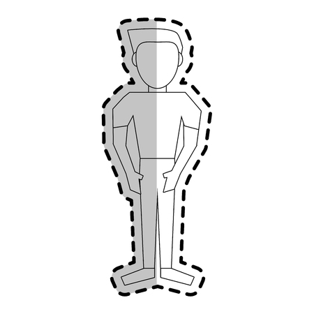abstract faceless man icon image vector illustration design