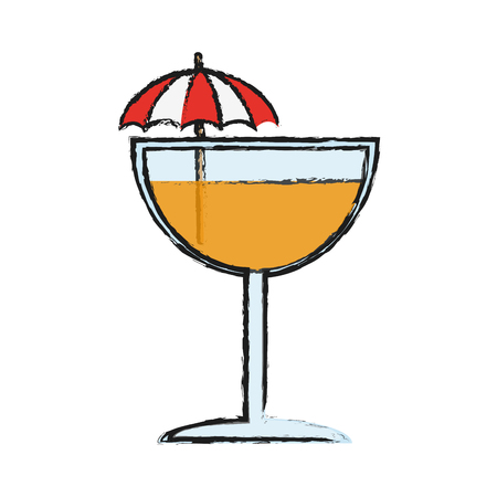 tropical cocktail icon image vector illustration design