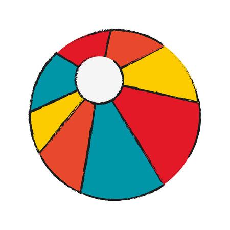 inflatable ball: beach ball icon image vector illustration design