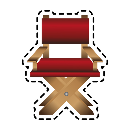 director chair icon image vector illustration design