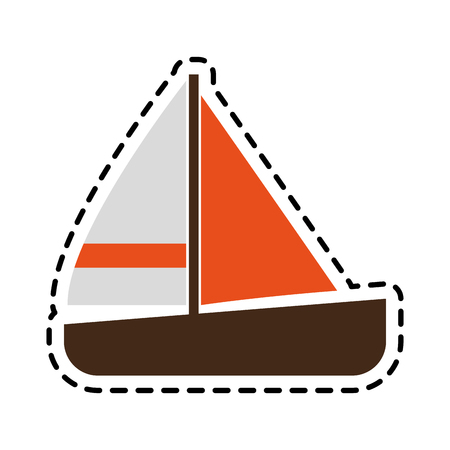 single sailboat icon image vector illustration design Illustration
