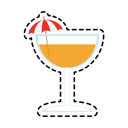 ice tea: tropical cocktail icon image vector illustration design