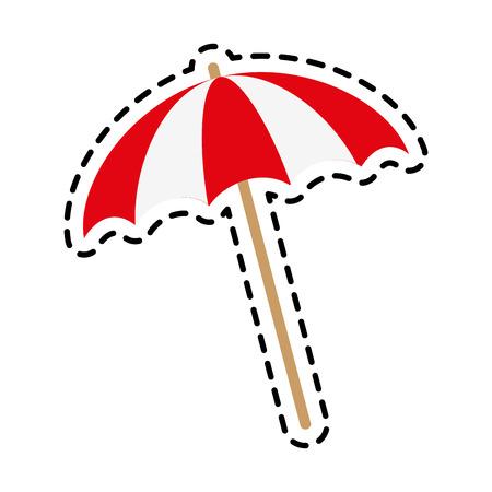 striped parasol icon image vector illustration design