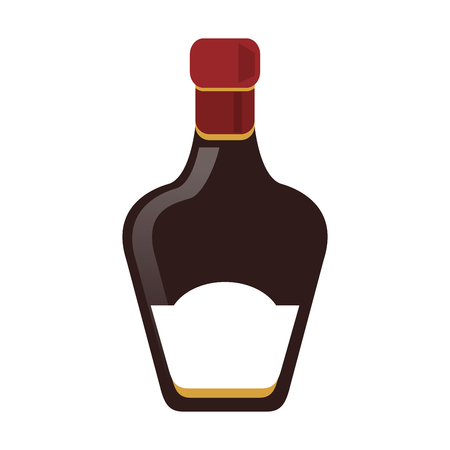 whisky bottle icon over white background. colorful design. vector illustration