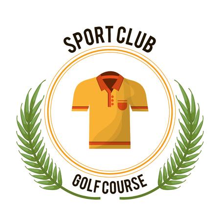 sport club golf course tshirt  イラスト・ベクター素材