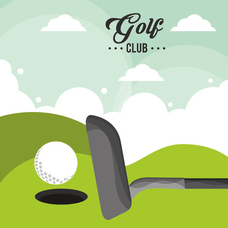 golf club ball field hole one poster
