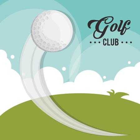golf club ball flying field