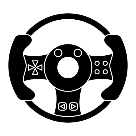 steering wheel video game pictogram