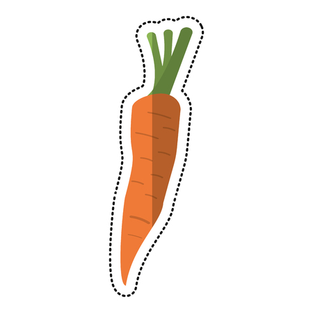 eps vector icon: cartoon carrot vegetable nutrition icon vector illustration eps 10
