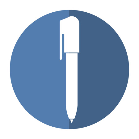 writing pad: pen write object icon shadow vector illustration