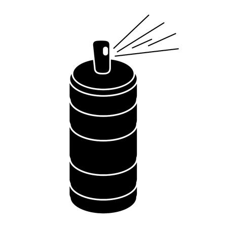 aerosol puede contenedor pictograma vector illustration