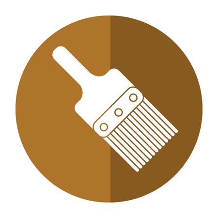 paint tool: paint brush tool design shadow vector illustration Illustration