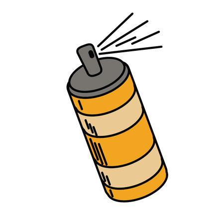 paint container: spray can container icon vector illustration Illustration