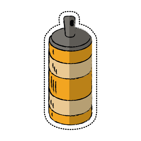 cartoon spray can container icon vector illustration Illustration