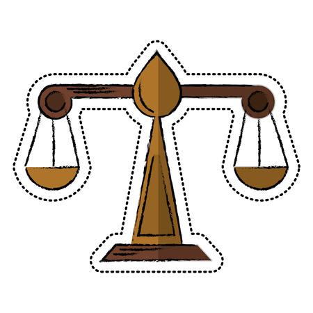 cartoon justice scale law symbol vector illustration eps 10 Illustration