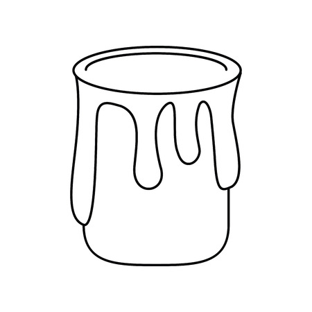 paint container: paint can colo thin line vector illustration eps 10 Illustration