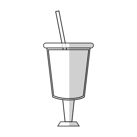 smoothie drink icon over white background. vector illustration