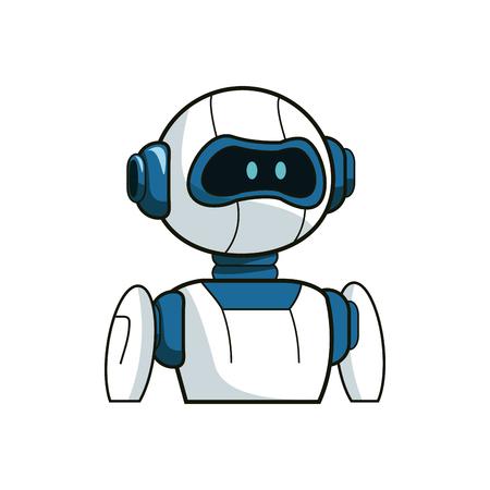 Robot cartoon icon over white background. colorful design. vector illustration Illustration
