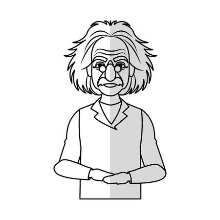 scientist man cartoon icon over white background. vector illustration