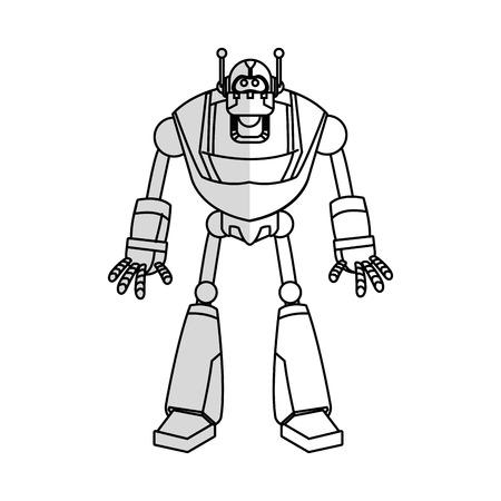 robot cartoon icon over white background. vector illustration Illustration