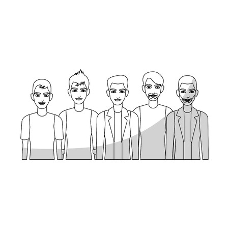 men young adults people icon image vector illustration design