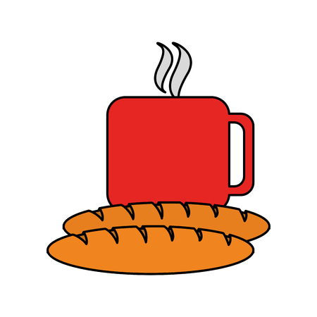 coffee and pastry icon image vector illustration design