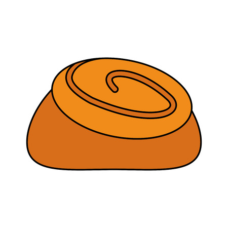 cinnamon roll pastry icon image vector illustration design