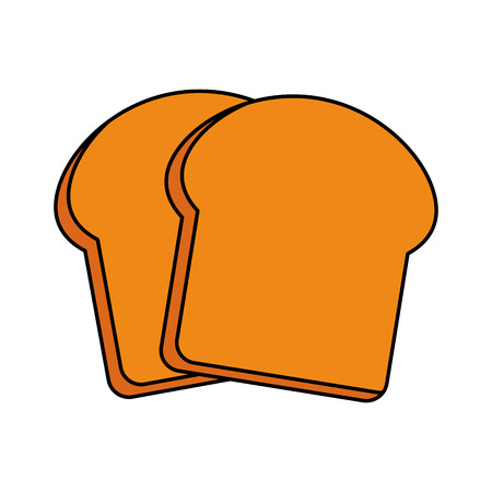 slice of bread pastry icon image vector illustration design