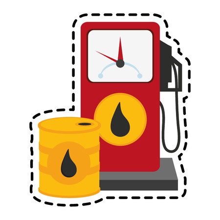 gas pump and oil industry related icons image vector illustration design