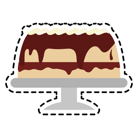 frosted: frosted cake pastry icon image pastry icon image vector illustration design Illustration