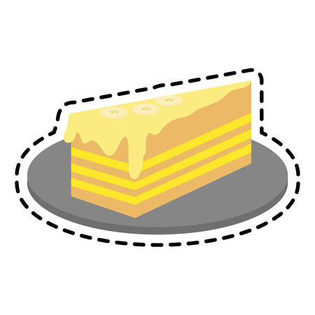 frosted cake pastry icon image pastry icon image vector illustration design Illustration