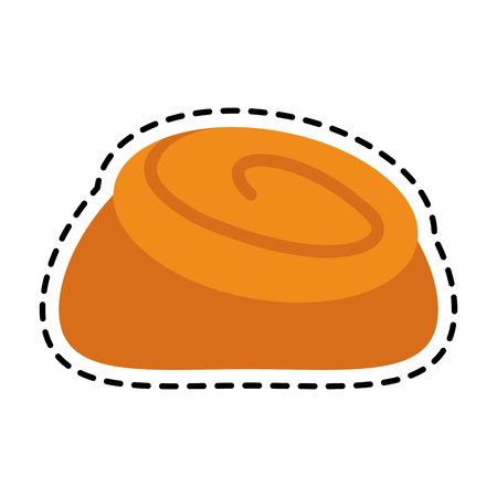 cinnamon roll pastry icon image vector illustration design