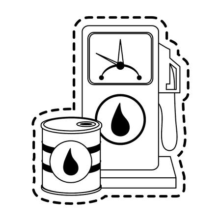 gas pump oil industry icon image vector illustration design