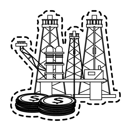 refinery oil industry icon image vector illustration design