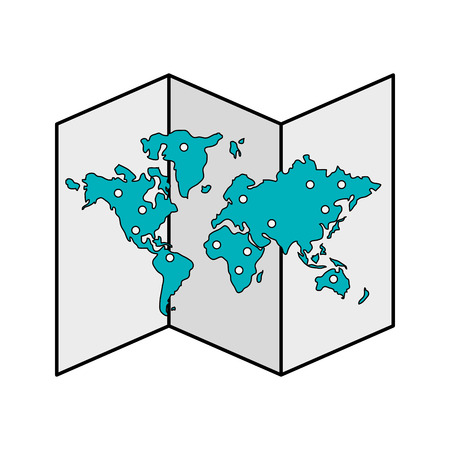 folded paper: paper map icon image vector illustration design