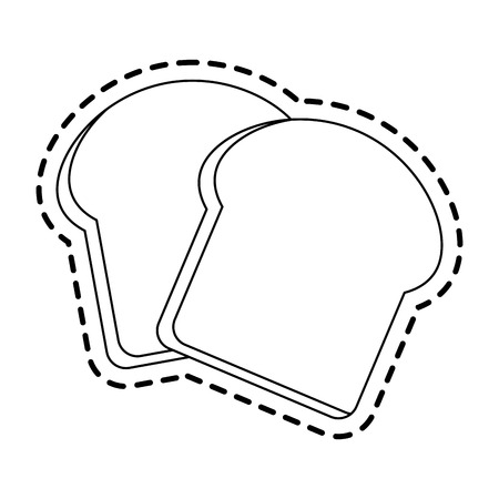 bread slice pastry icon image vector illustration design