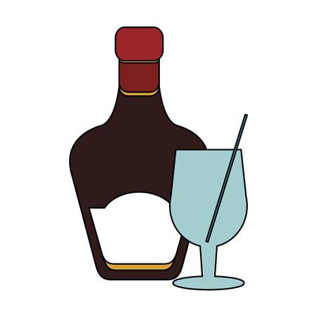 tinted glass liquor bottle icon image vector illustration design Illustration