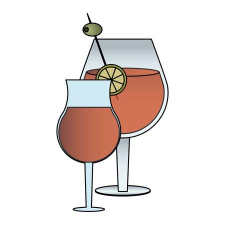 cocktail in embellished glass icon image vector illustration design
