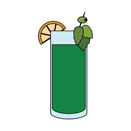 ice tea: cocktail in embellished glass icon image vector illustration design
