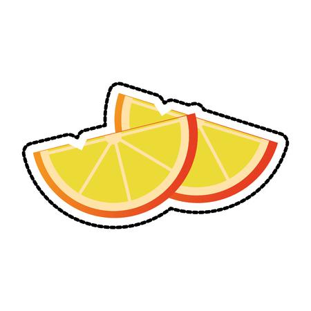Zitronenscheiben Symbol Bild Vektor-Illustration Design
